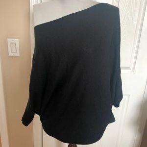 Velvet by Graham & Spencer Sweaters - VELVET wool cashm S off shoulder poncho sweater